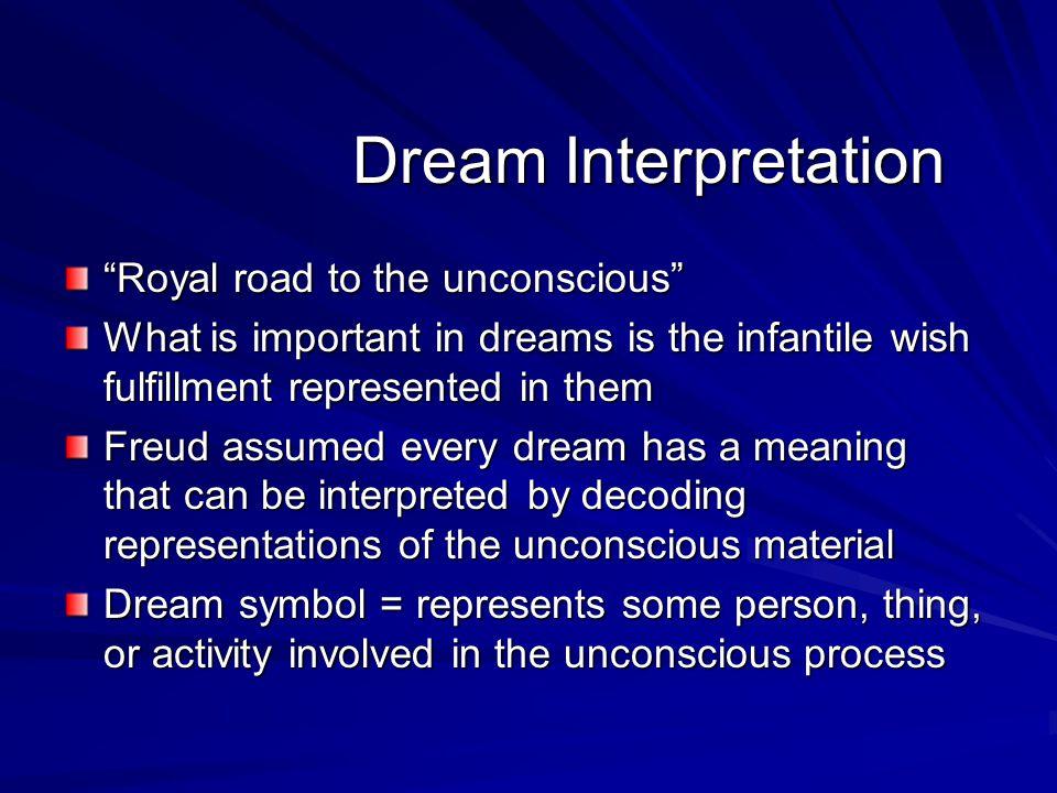 Dream Interpretation Royal road to the unconscious