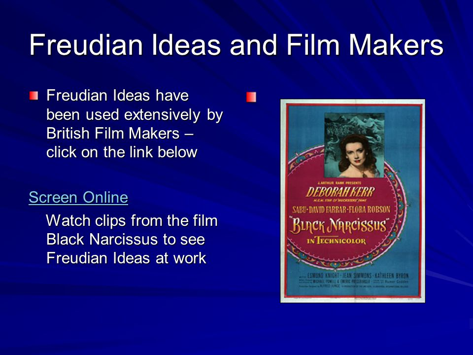 Freudian Ideas and Film Makers