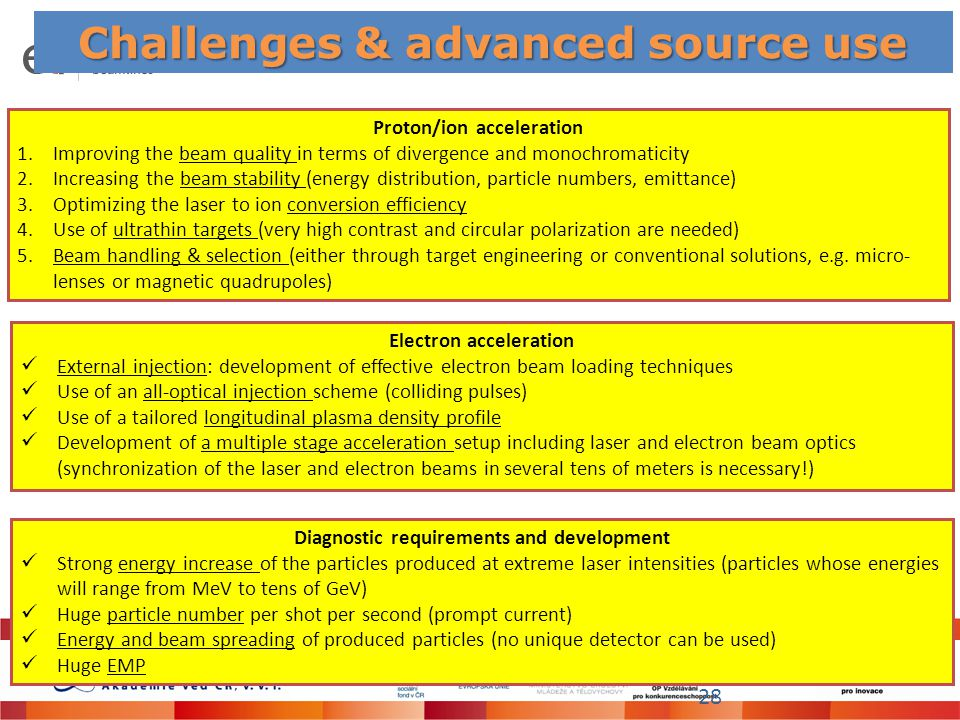 Challenges & advanced source use