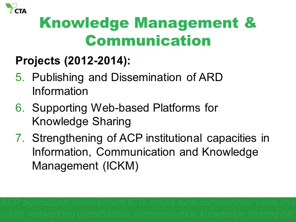 Knowledge Management & Communication