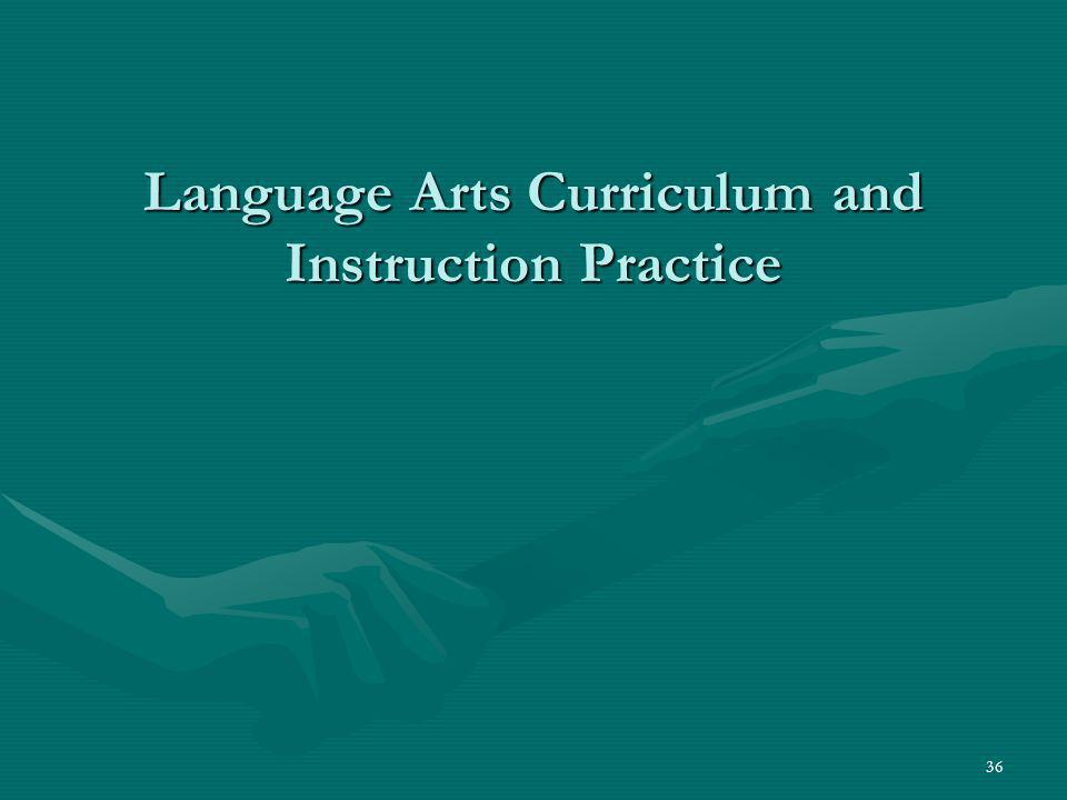 Language Arts Curriculum and Instruction Practice
