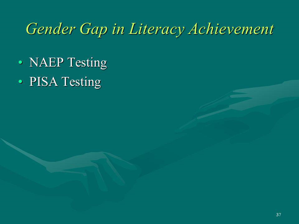 Gender Gap in Literacy Achievement