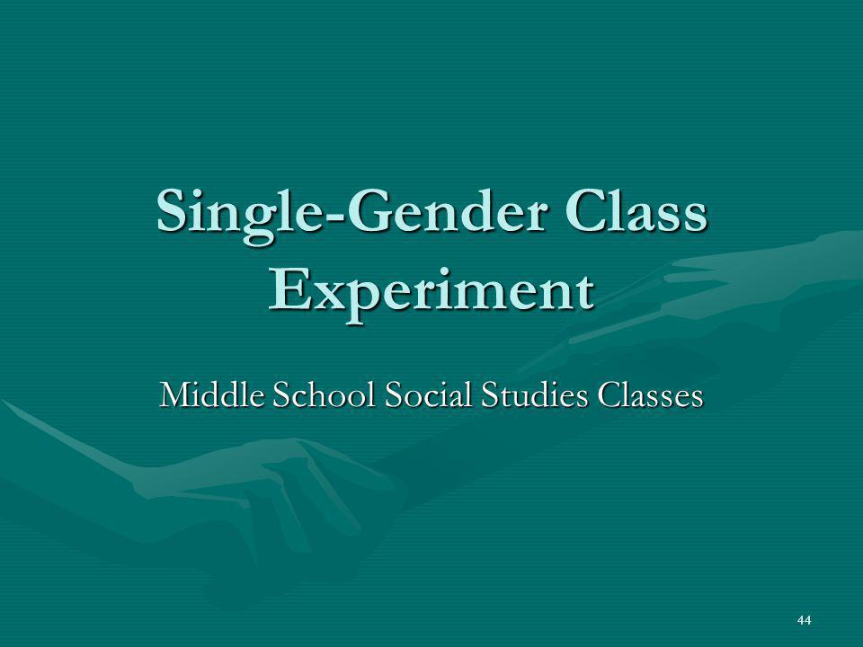 Single-Gender Class Experiment