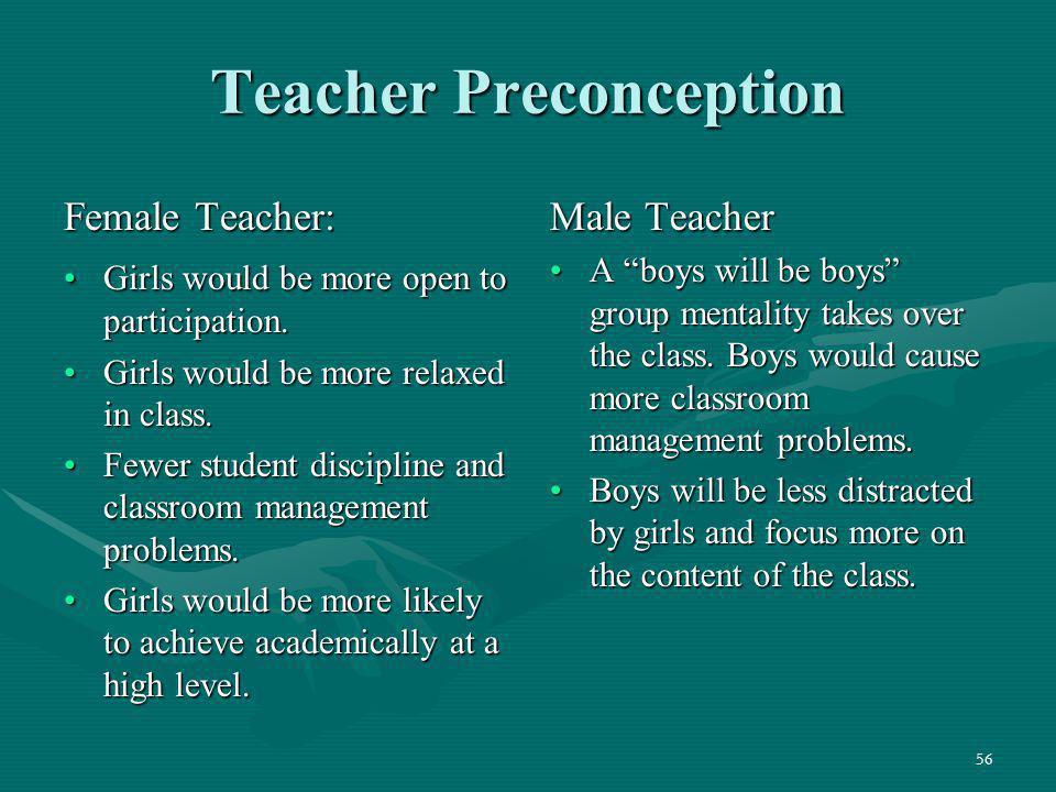 Teacher Preconception