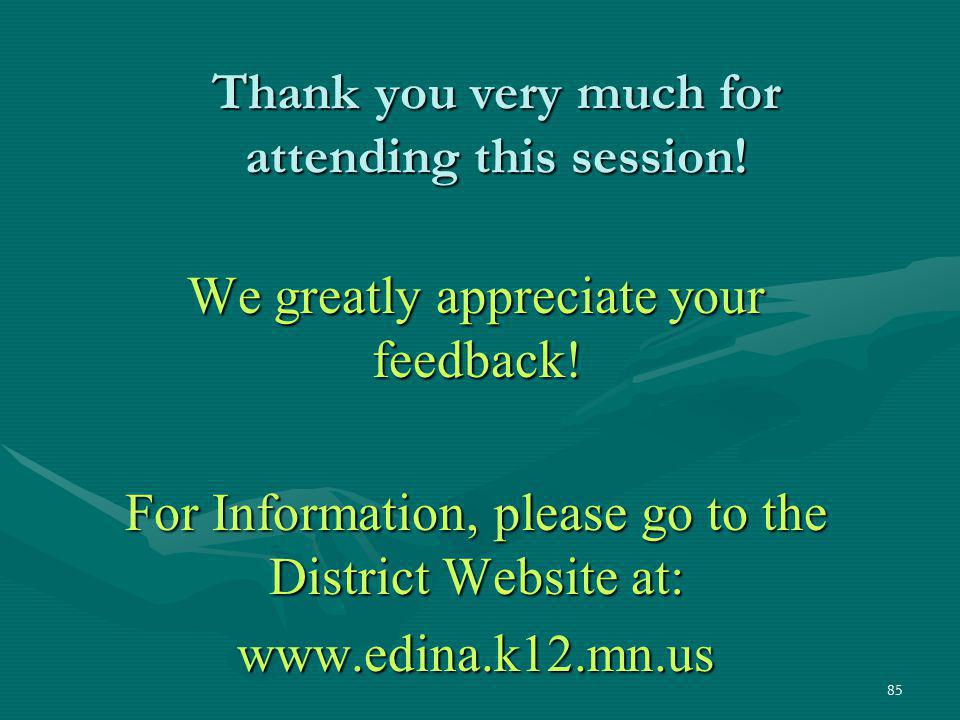 Thank you very much for attending this session!