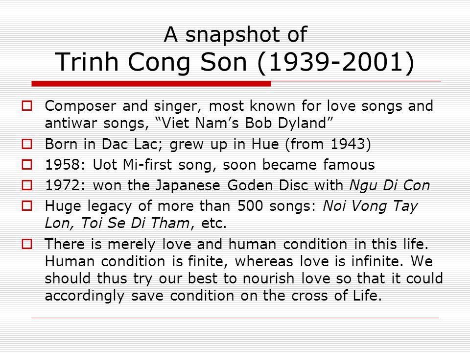 A snapshot of Trinh Cong Son (1939-2001)