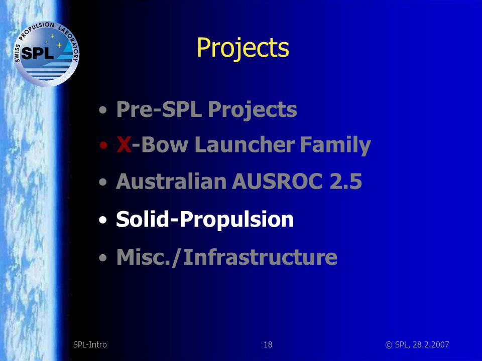 Solid Propulsion Goal: Elaborate the knowledge to design, build and fire solid rocket motors (AP-HTPB-Al Composite)