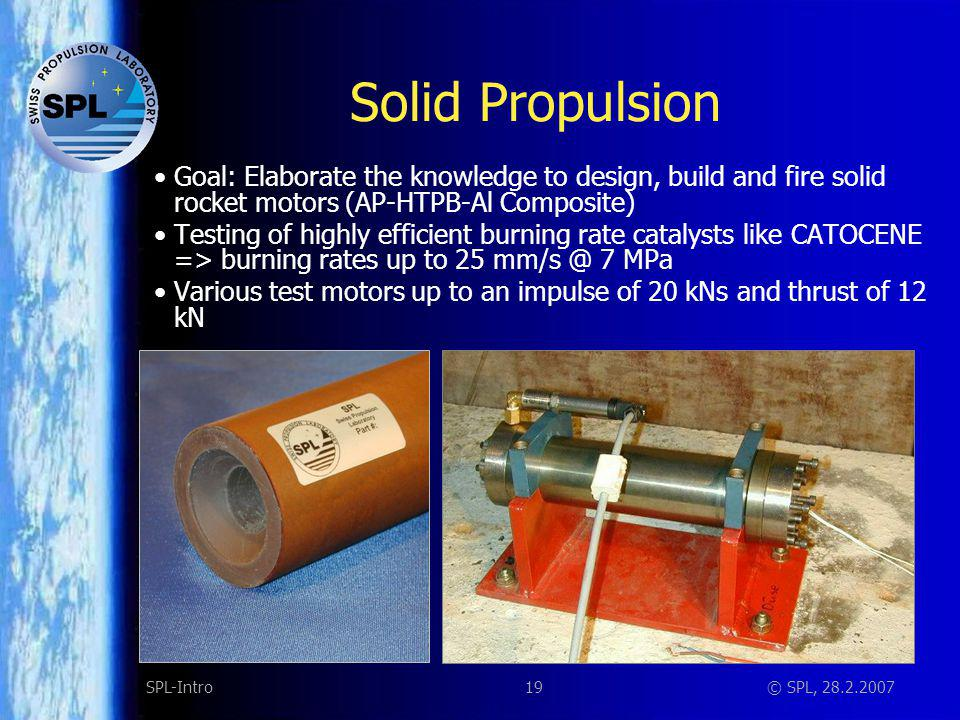 Solid propulsion TETHIS Motor