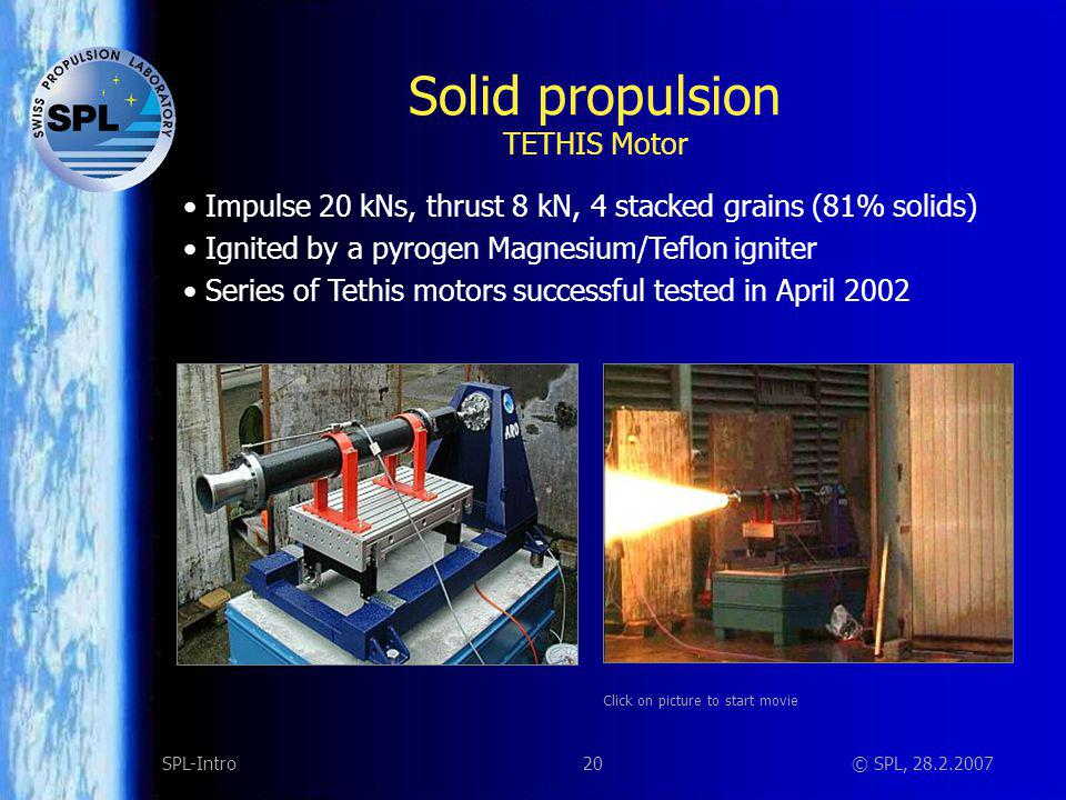 Solid Propulsion Igniters