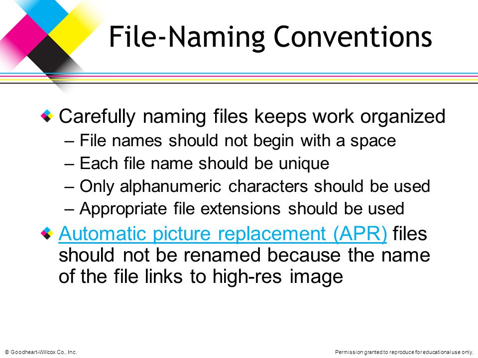 File-Naming Conventions