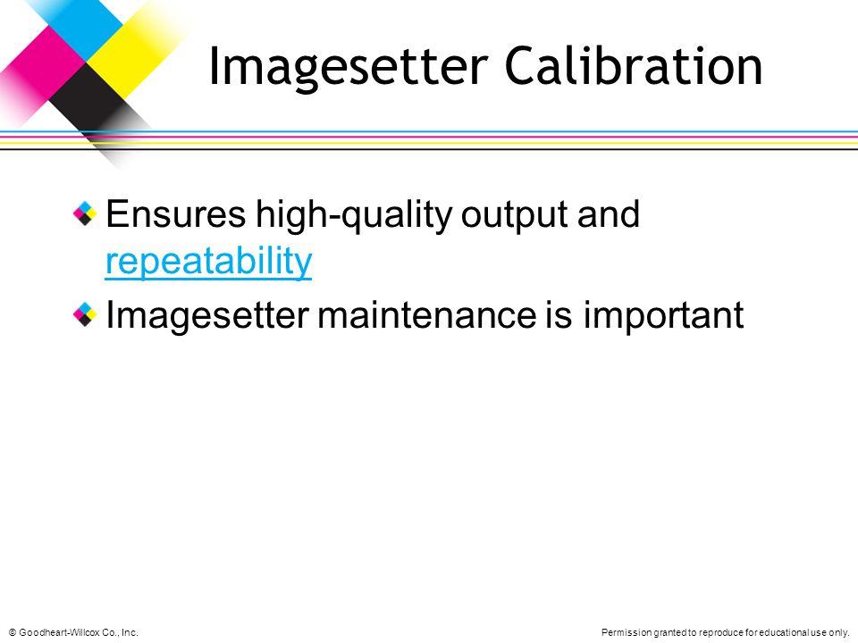 Imagesetter Calibration