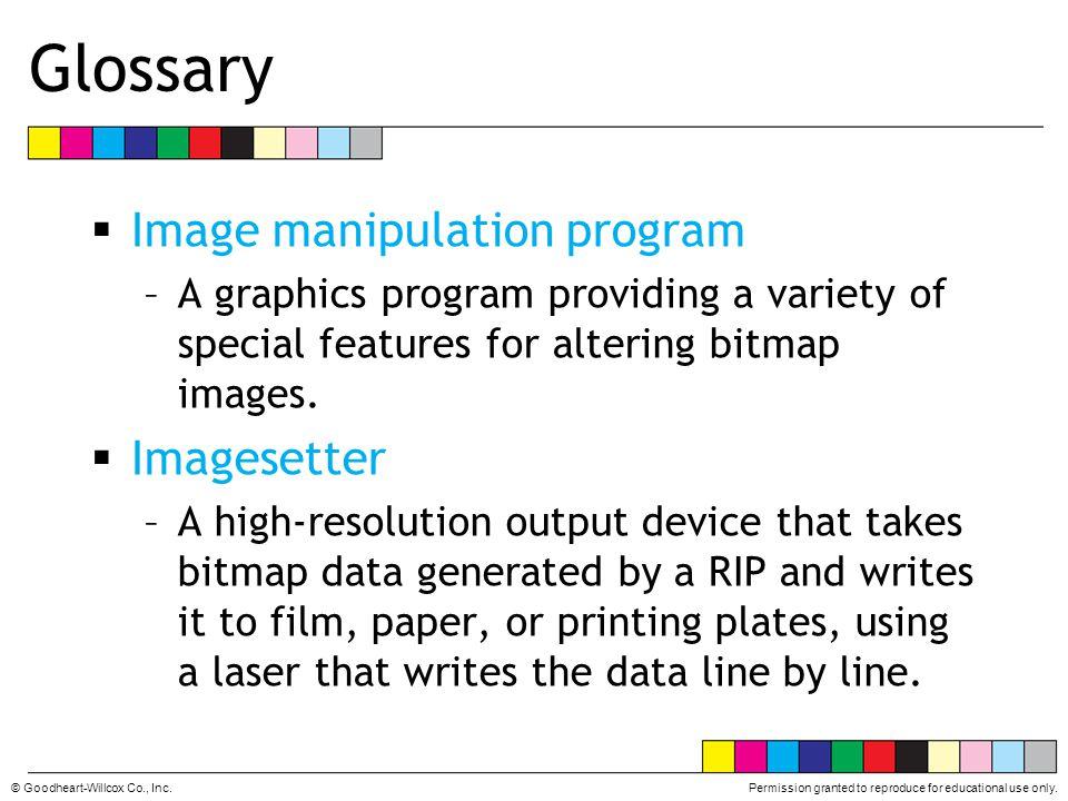 Glossary Image manipulation program Imagesetter