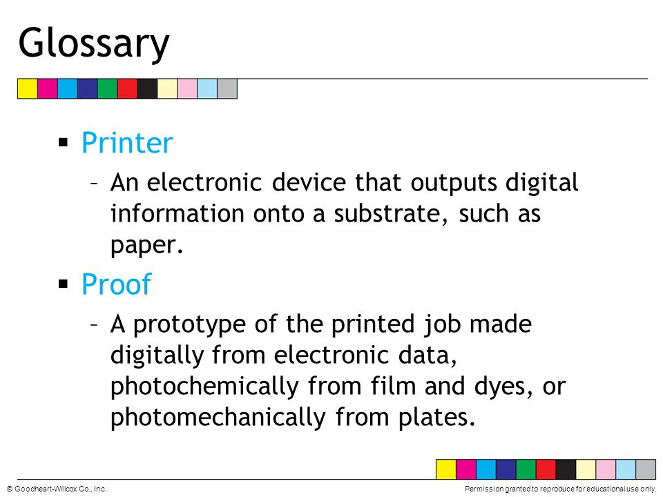 Glossary Printer Proof