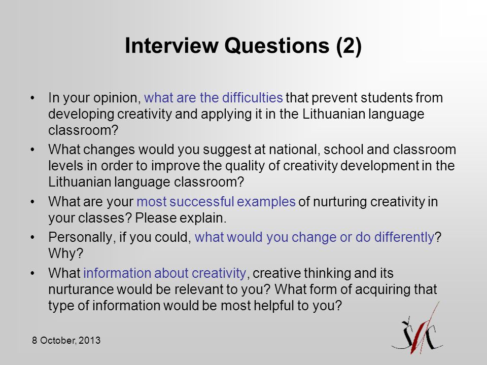 Interview Questions (2)