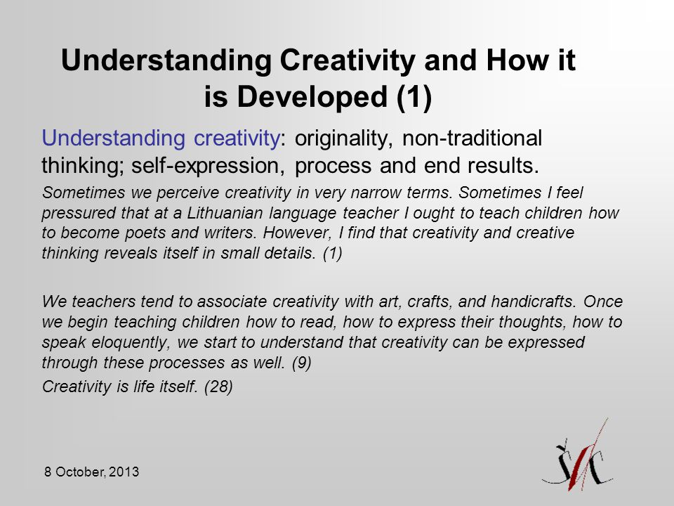 Understanding Creativity and How it is Developed (1)