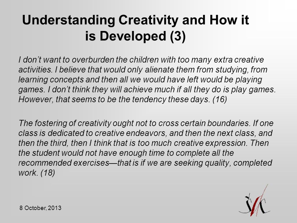 Understanding Creativity and How it is Developed (3)