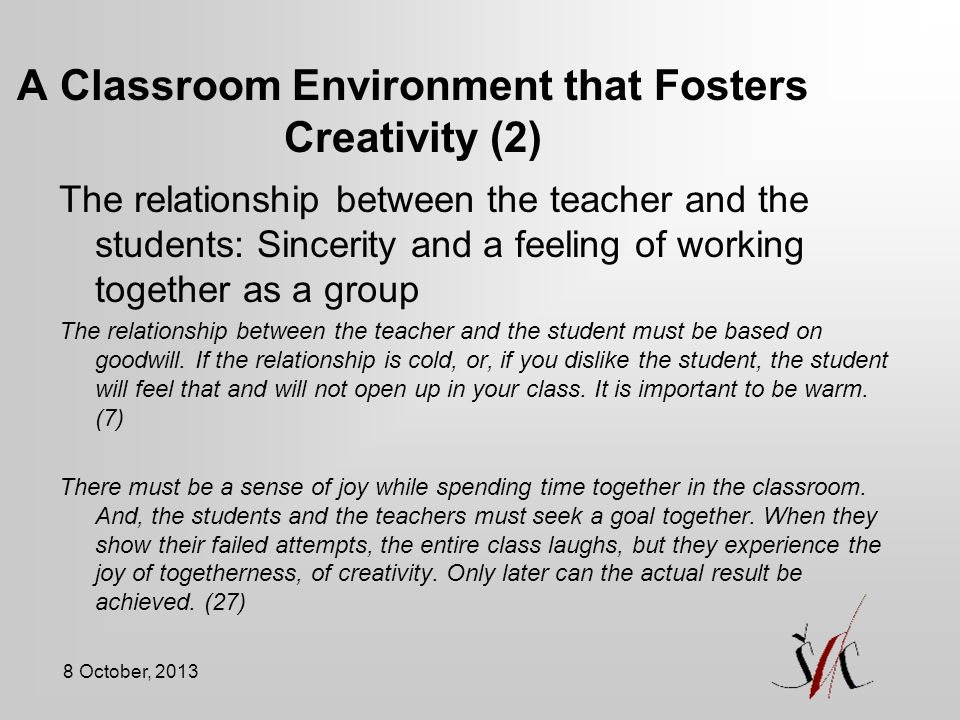 A Classroom Environment that Fosters Creativity (2)