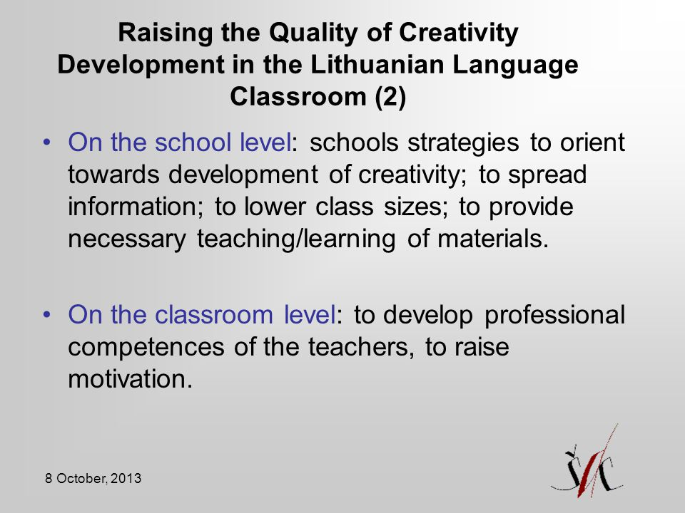 Raising the Quality of Creativity Development in the Lithuanian Language Classroom (2)
