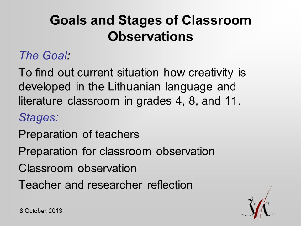 Goals and Stages of Classroom Observations