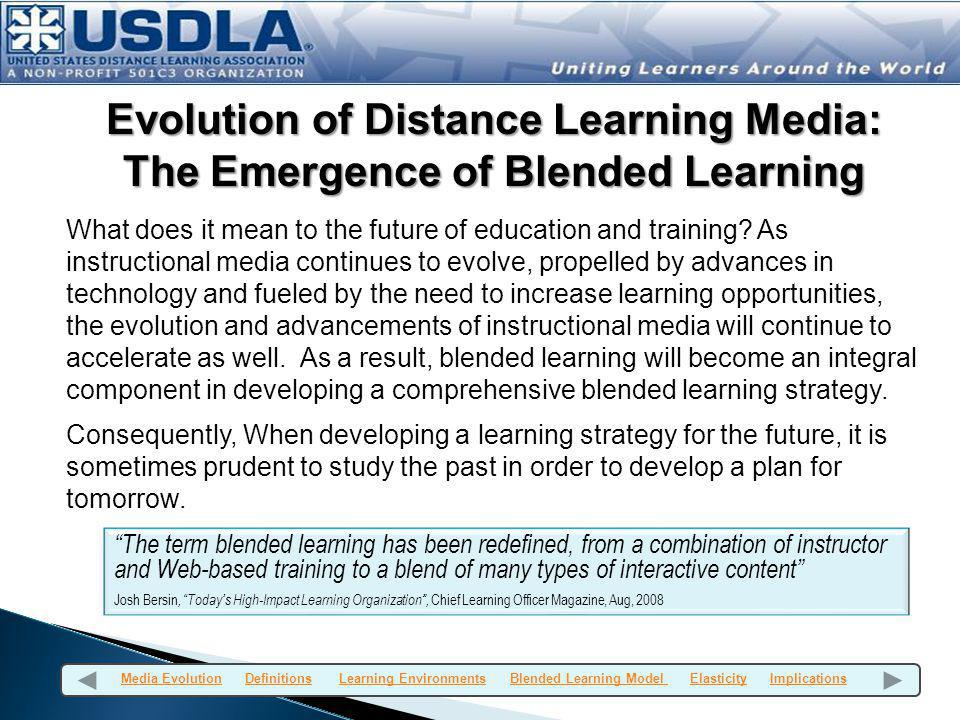 Evolution of Distance Learning Media: