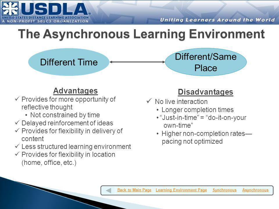The Asynchronous Learning Environment