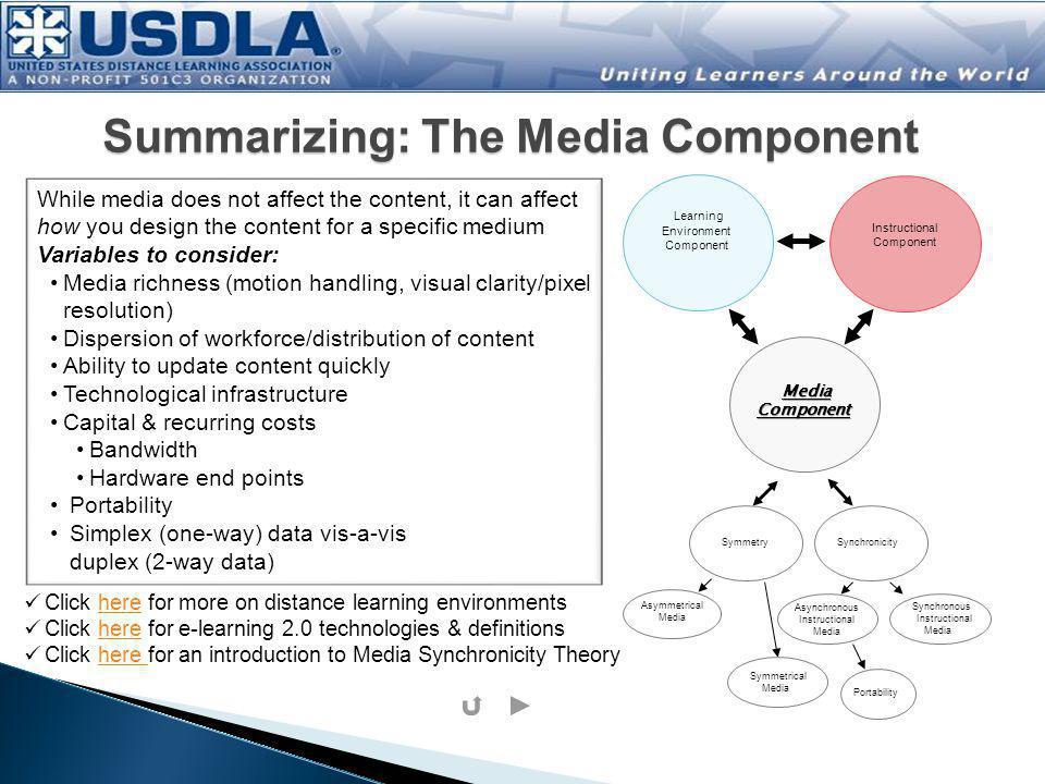 Summarizing: The Media Component