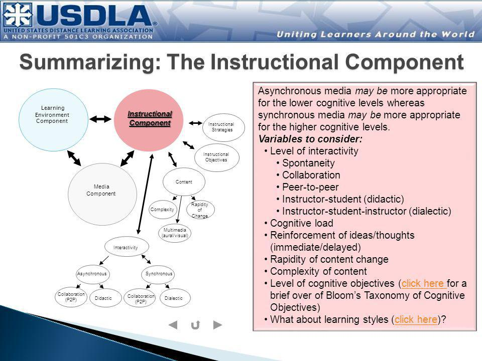 Summarizing: The Instructional Component