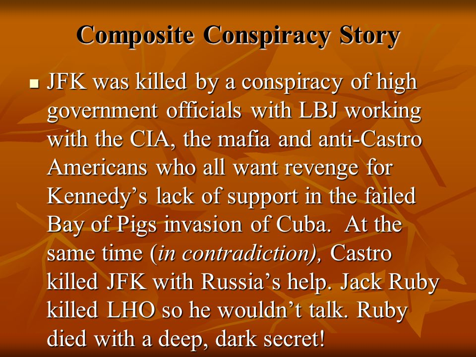 Composite Conspiracy Story