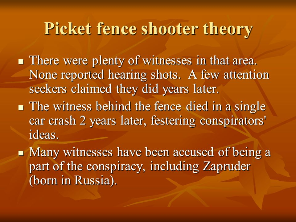 Picket fence shooter theory