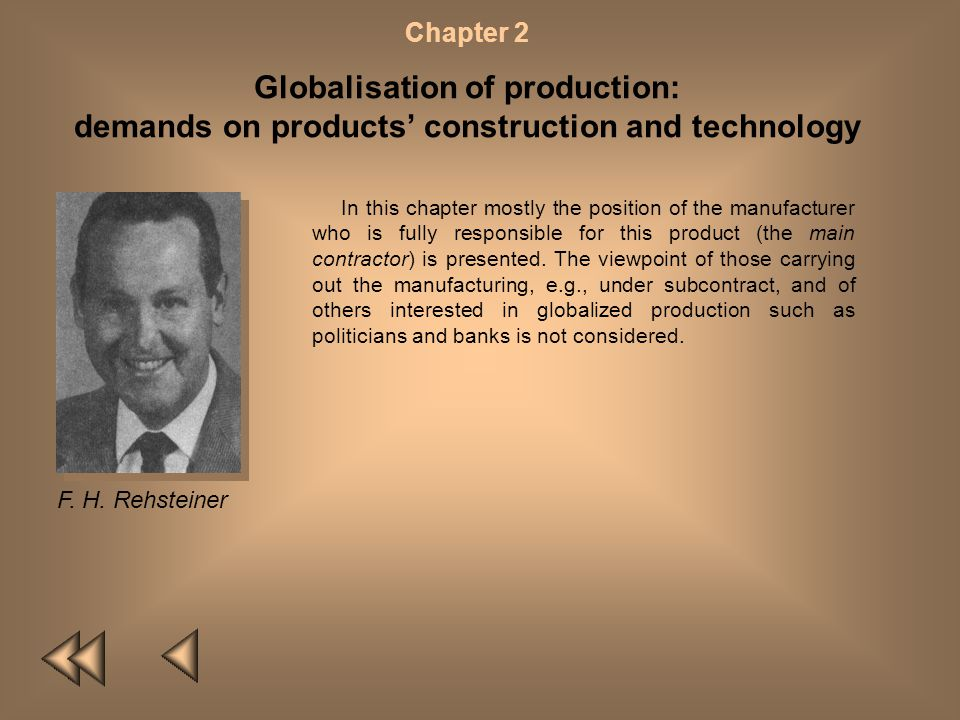 Globalisation of production: