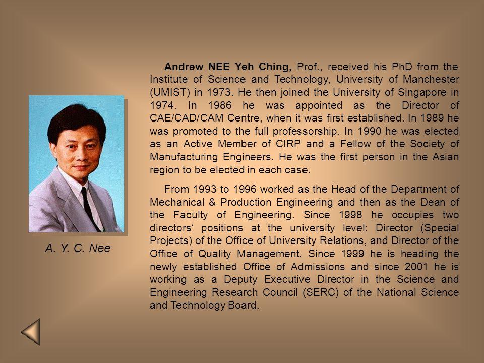 Andrew NEE Yeh Ching, Prof