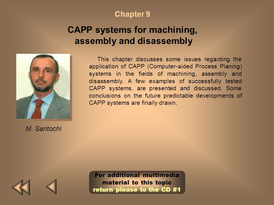 CAPP systems for machining, assembly and disassembly