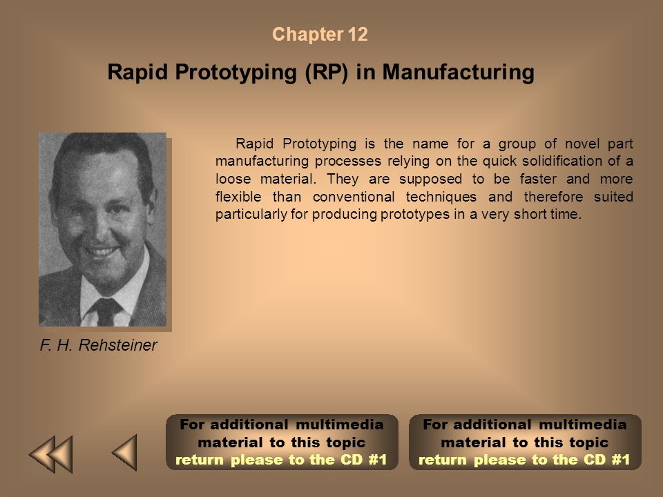 Rapid Prototyping (RP) in Manufacturing