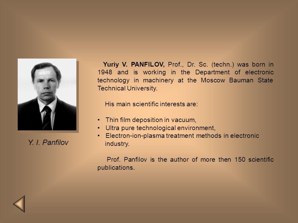 Yuriy V. PANFILOV, Prof. , Dr. Sc. (techn