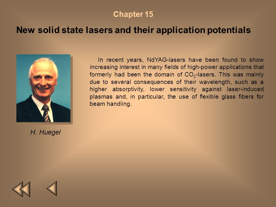 New solid state lasers and their application potentials