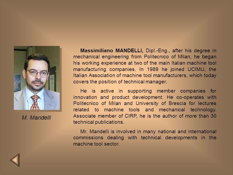 Massimiliano MANDELLI, Dipl. -Eng