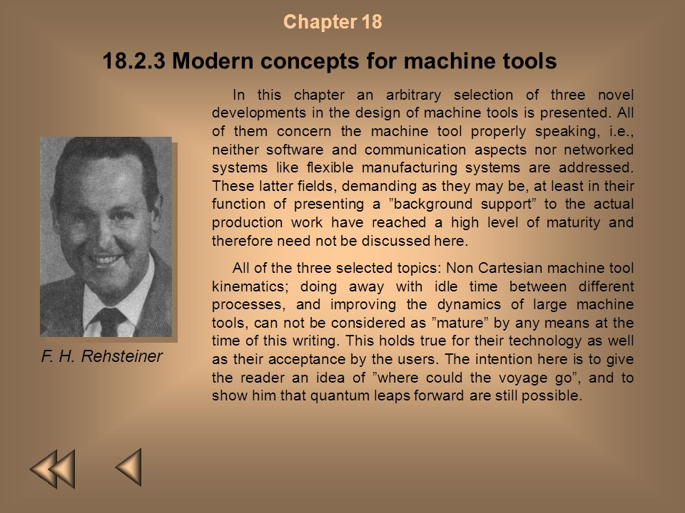18.2.3 Modern concepts for machine tools
