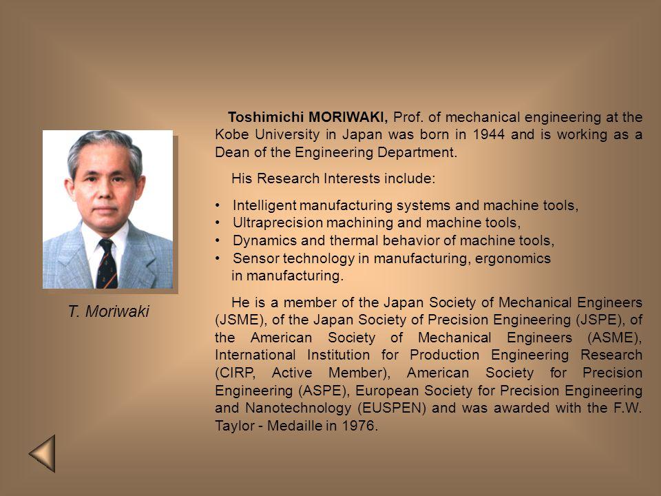 Toshimichi MORIWAKI, Prof