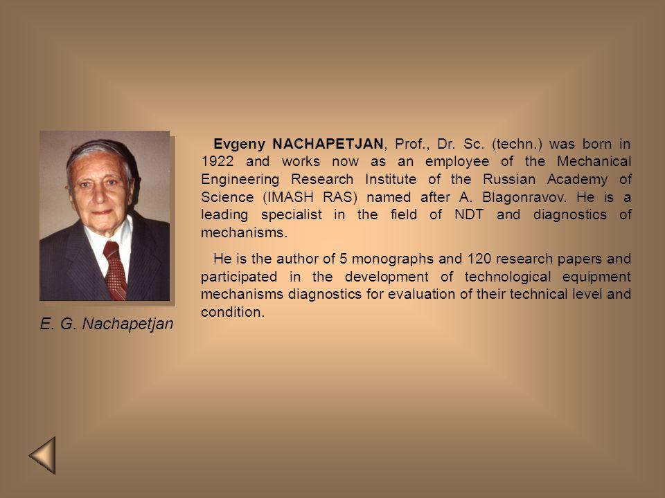 Evgeny NACHAPETJAN, Prof. , Dr. Sc. (techn