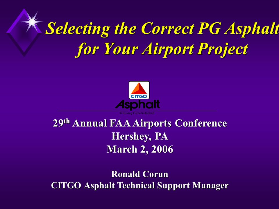 Selecting the Correct PG Asphalt for Your Airport Project