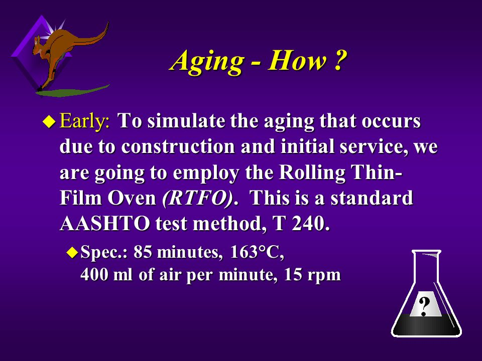 Aging - How