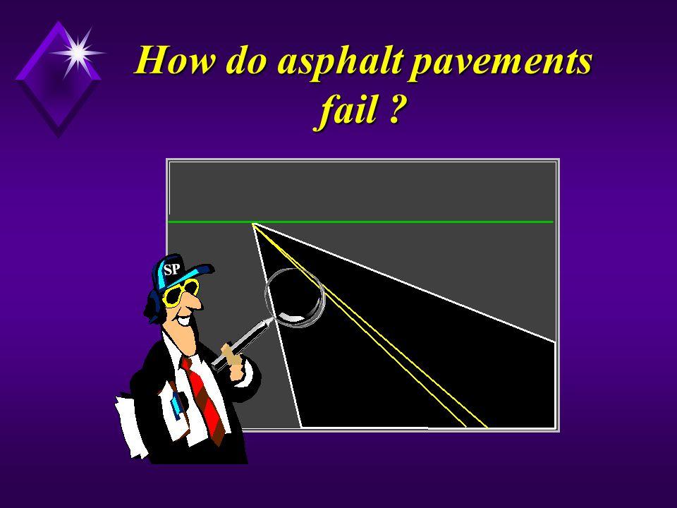 How do asphalt pavements fail