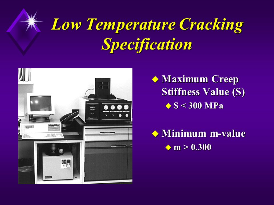 Low Temperature Cracking Specification