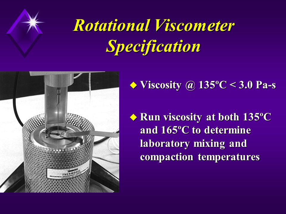Rotational Viscometer Specification