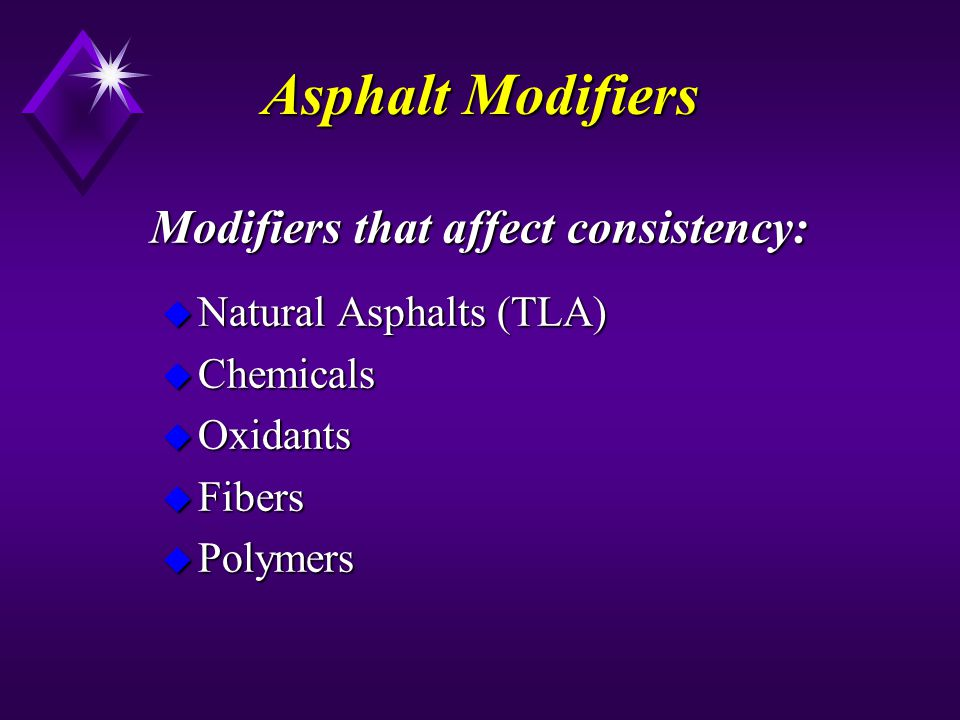 Modifiers that affect consistency: