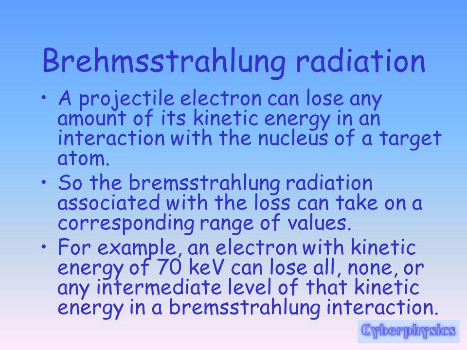 Brehmsstrahlung radiation