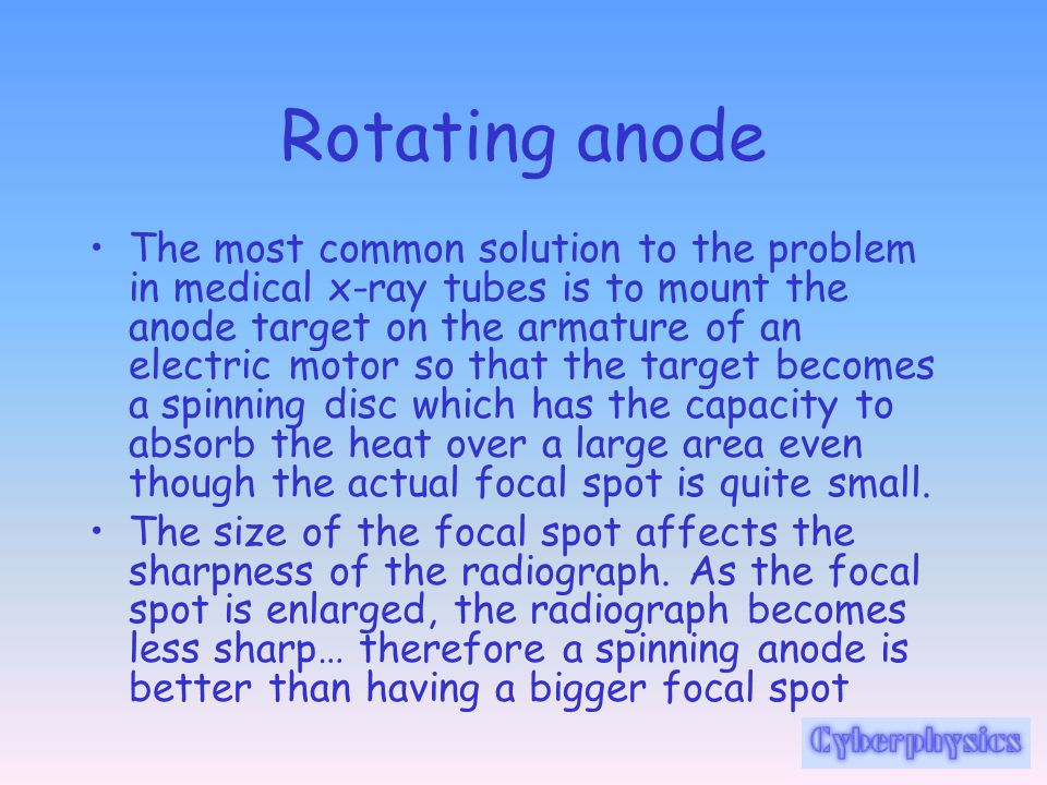 Rotating anode