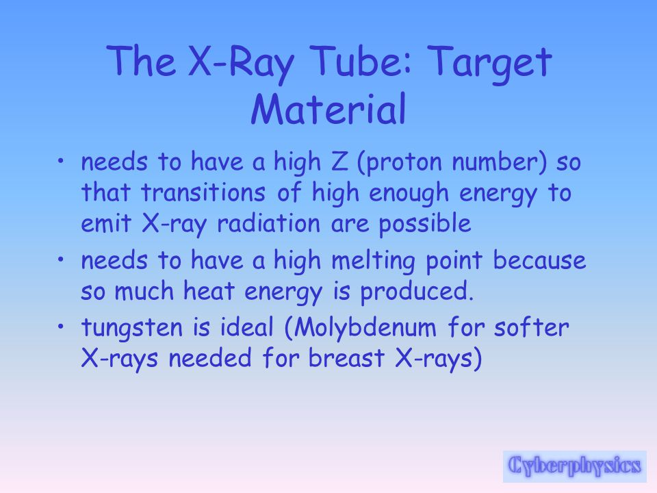 The X-Ray Tube: Target Material