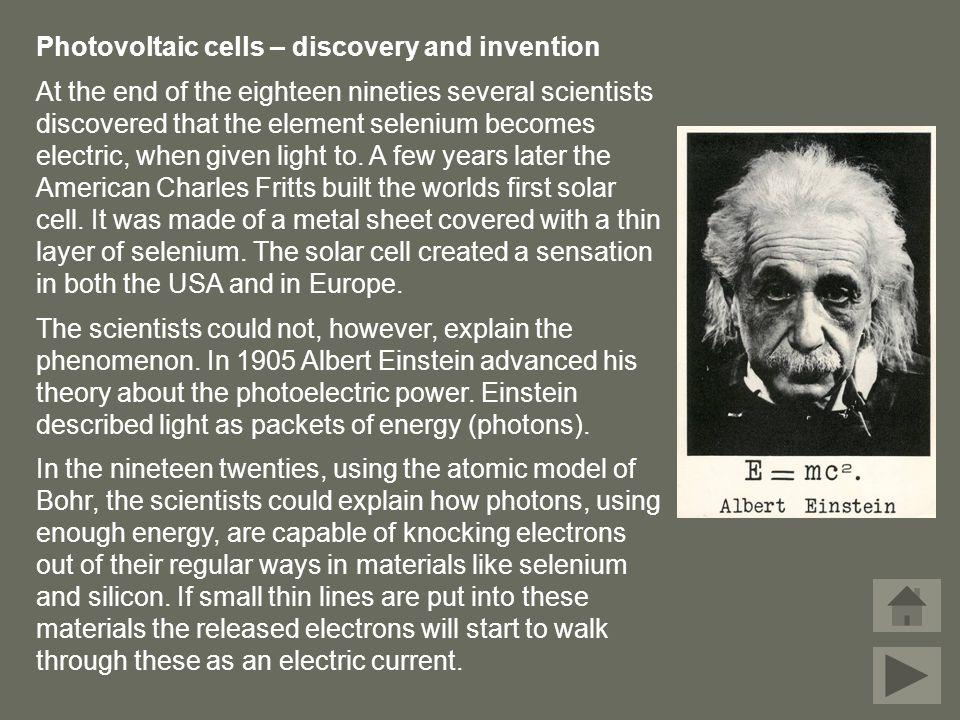 Photovoltaic cells – discovery and invention