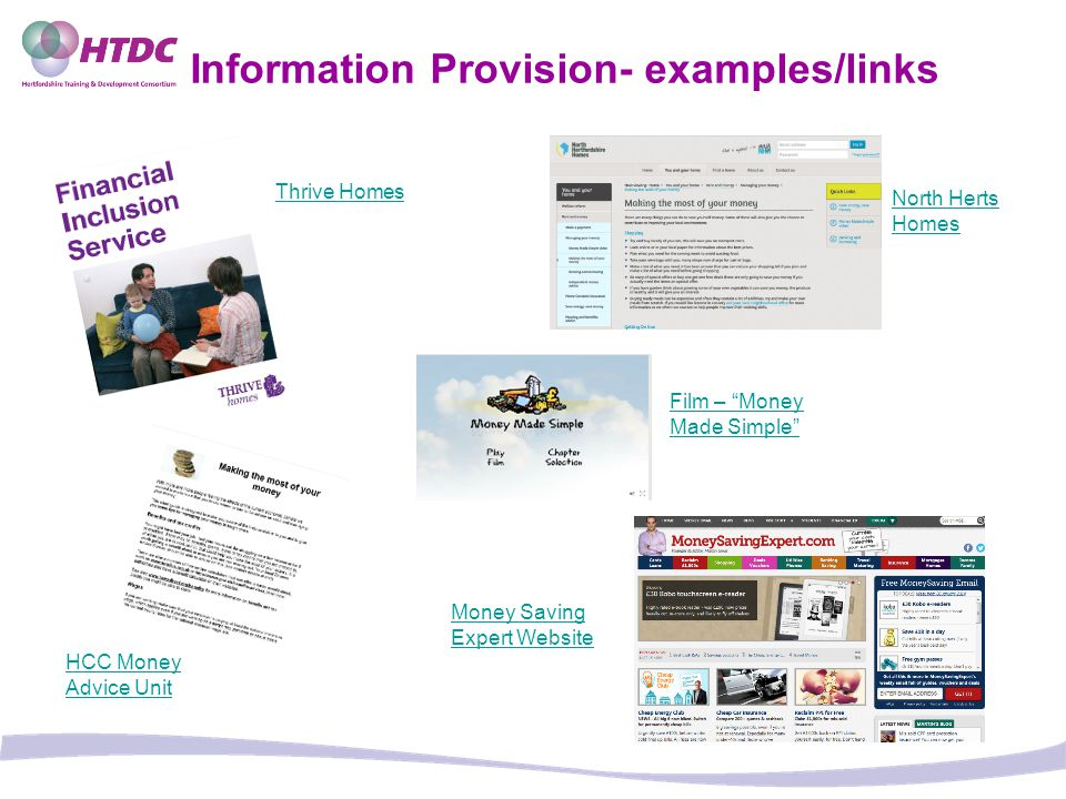Information Provision- examples/links